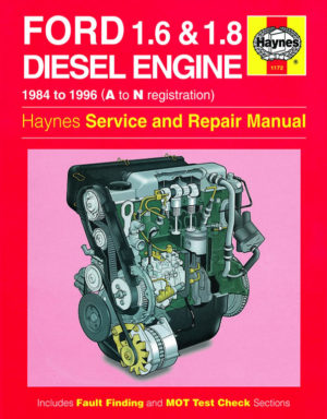 Ford 1.6 and 1.8 litre Diesel Engine (Haynes 1172)