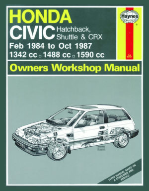 Honda Civic Hatchback, Shuttle & CRX 1984-1987 (Haynes 1226)
