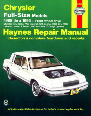 Chrysler Full-Size Front-wheel drive (Haynes 25020)