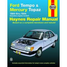 Ford Tempo and Mercury Topaz (Haynes 36078)