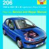Peugeot 206 Petrol and Diesel 1998 - 2001 (Haynes 3757)