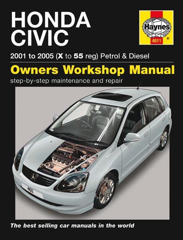 Honda Civic Petrol & Diesel (Haynes 4611) 2001-2005