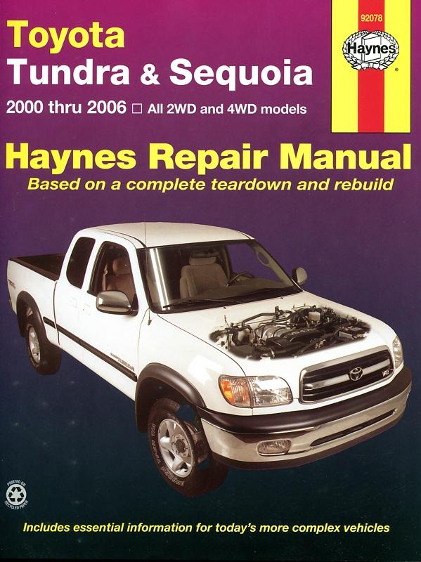 Toyota Tundra and Sequoia (Haynes 92078)