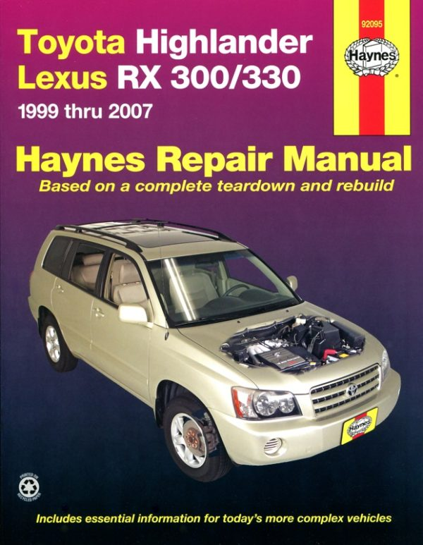Toyota Highlander & Lexus RX 300 / 300 (Haynes 92095)