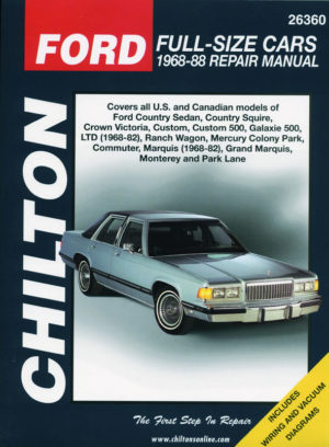 Ford Full-size cars (Chilton C26360)