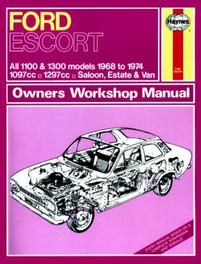 Ford Escort Mk I 1100 and 1300 (1968 - 1974) (Haynes 0171)