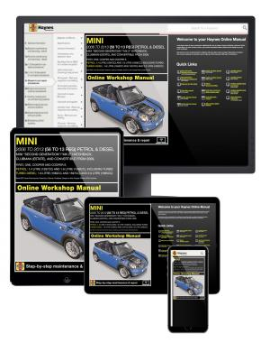 MINI Petrol and Diesel 2006 - 2013 Haynes Online Manual (MOL4904)