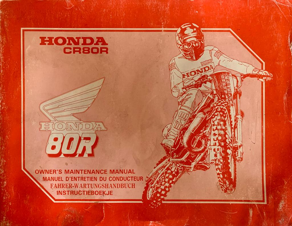 Owner U2019s Manual Honda Cr80r Maintenance 1988  Factory